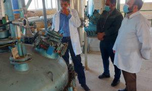 بازدید دبیر سندیکای تولید کنندگان مواد اولیه دارویی از داروسازی طاها